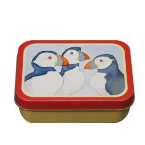 Three Puffins - Mini Rectangular Tin-0