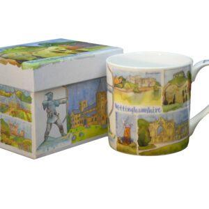 Nottinghamshire Bone China Mug with Gift Box-0