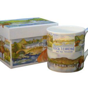 Loch Lomond & the Trossachs Bone China Mug with Gift Box-0