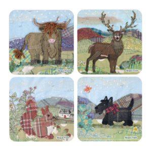 Abigail Mill Tweedie Animals Assorted Coasters-0