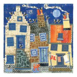 Blue Moon Greetings Card-0