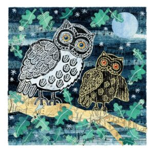 Two Owls Greetings Card-0