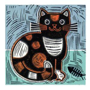 Calico Cat Greetings Card-0