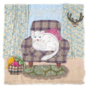 White Cat - Greetings Card-0