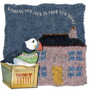 New Home - Woolly Puffins Greetings Card-0