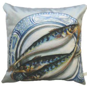 Plated Mackerel Velvet Cushion-0