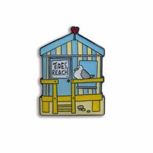 Tides Reach Beach Hut - Enamel Pin-0