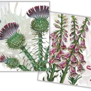 Floral Thank You Mini Card Pack of 10-0