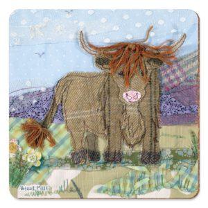 Tweedie Highland Cow Pot Stand-0