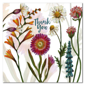 Thank You Flowers Greetings Card-0