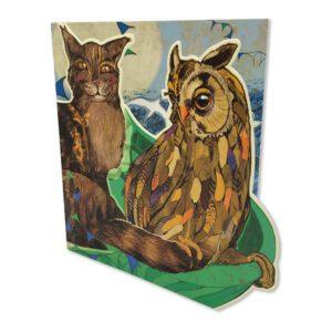DSP08 OWL & PUSSYCAT CARD