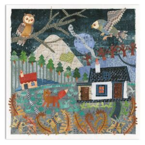 Two Owls & a Fow Greetings Card-0