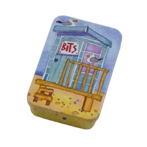 Blue Beach Hut - Pocket Tin-0