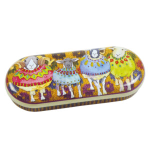 Woolly Sheep in Sweaters Glasses Case-0