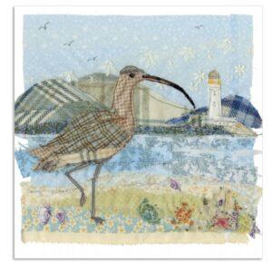 Curlew Greetings Card-0