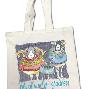 Full of Woolly Goodness Cotton Canvas Bag-0