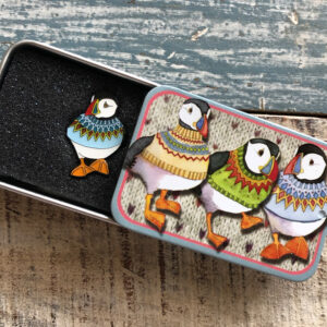 Pin in a Tin- Blue Jumper Woolly Puffin-9076