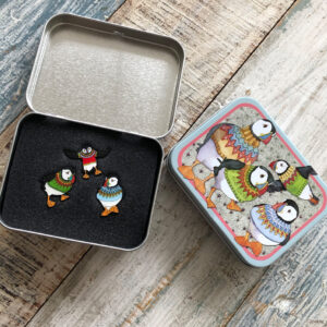 Three Pins in a Tin- Woolly Puffins-0